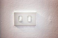 Placa do interruptor da luz fotos de stock