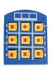 Placa do jogo do Tic-Tac-Dedo do pé Foto de Stock