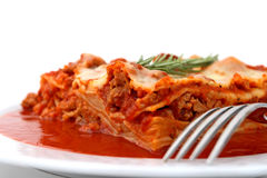 Placa do Lasagna Foto de Stock Royalty Free