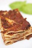 Placa do lasagna Fotografia de Stock Royalty Free
