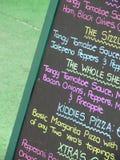 Placa do menu imagem de stock royalty free