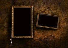 Placa do menu com fundo floral velho Foto de Stock Royalty Free