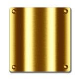 Placa do metal do ouro. textura vazia a projetar ilustração do vetor