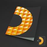 Placa do negócio A4 ilustração abstrata do vetor Imagens de Stock Royalty Free
