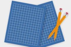 Placa do papel de desenho Imagem de Stock