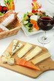 Placa do queijo Imagens de Stock
