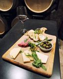 Placa do queijo e da carne Imagem de Stock