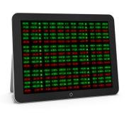 Placa do relógio do mercado de valores de ação Imagem de Stock Royalty Free