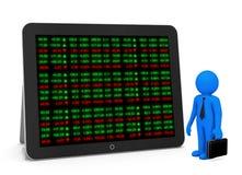 Placa do relógio do mercado de valores de ação Foto de Stock