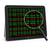 Placa do relógio do mercado de valores de ação Imagem de Stock