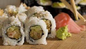 Placa do rolo do sushi Foto de Stock
