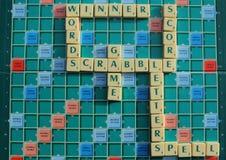 Placa do Scrabble Fotos de Stock