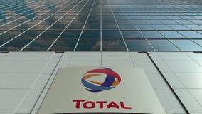 Placa do Signage com S total A logo Lapso de tempo moderno da fachada do prédio de escritórios Rendição 3D editorial vídeos de arquivo