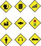 placa do sinal de estrada Imagem de Stock