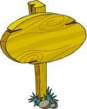 Placa do sinal - madeira Imagens de Stock