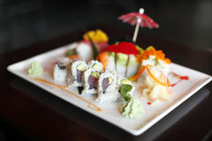 Placa do sushi Imagens de Stock