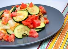 Placa do vegetal do Zucchini Imagens de Stock