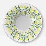 Placa do vetor com teste padrão floral Imagem de Stock Royalty Free