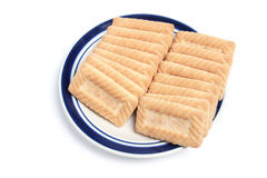 Placa dos biscoitos Fotografia de Stock