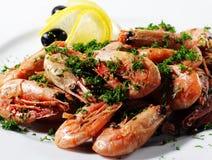 Placa dos camarões Fotografia de Stock