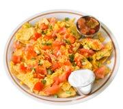 Placa dos Nachos com queijo Imagens de Stock Royalty Free