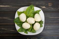 Placa dos ovos cozidos Foto de Stock