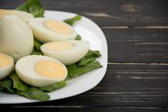 Placa dos ovos cozidos Fotografia de Stock Royalty Free