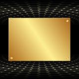 Placa dourada Imagens de Stock Royalty Free
