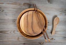 Placa e chopsticks vazios Imagens de Stock Royalty Free