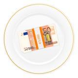 Placa e cinqüênta euro- blocos Imagem de Stock Royalty Free