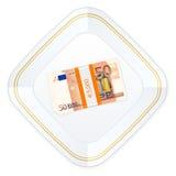 Placa e cinqüênta euro- blocos Imagens de Stock Royalty Free