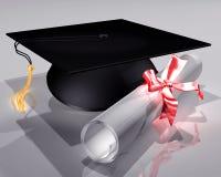 Placa e diploma do almofariz ilustração stock