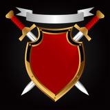 Placa e espada. Fotografia de Stock