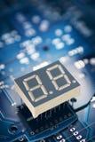Placa e exposição de circuito impresso Fotografia de Stock Royalty Free