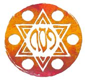 Placa e Matzo da páscoa judaica Imagem de Stock
