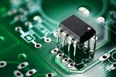 Placa e microplaqueta de circuito impresso Imagem de Stock