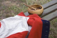 Placa e revestimento de madeira do estilo do vintage Ainda vida retro Fotos de Stock Royalty Free