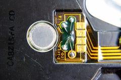 Placa eletrônica com componentes bondes Eletrônica do material informático imagens de stock