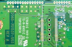Placa eletr?nica com componentes bondes Eletrônica do computador foto de stock