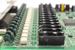 Placa eletrônica do computador Foto de Stock