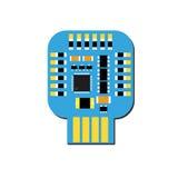 Placa eletrônica do usb de DIY com um microcontrolador em ESP10 Fotografia de Stock Royalty Free