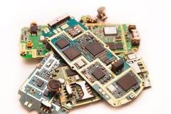 Placa eletrônica dos telefones celulares fotografia de stock