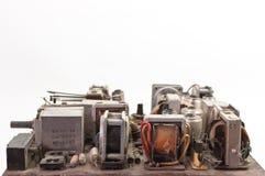 Placa eletrônica retro idosa imagem de stock