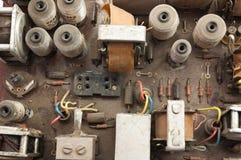 Placa eletrônica retro idosa fotos de stock