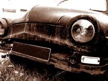 Placa em branco no carro velho Fotos de Stock