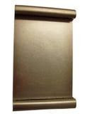 Placa en blanco de la concesión del oro - aislada imagenes de archivo