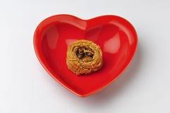 Placa en forma de corazón Fotos de archivo