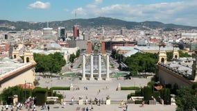 Placa Espagna in Barcelona, Spain stock video footage