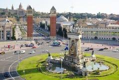 Placa Espagna en Barcelona Foto de archivo