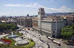 Placa Espana στη Βαρκελώνη, Ισπανία Στοκ Φωτογραφίες